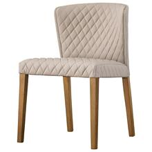 Albie KD Diamond Stitching PU Chair, Danburry Dune