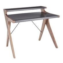 Archer Desk - Walnut Wood, Grey Wood