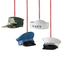 Military Hat Ornaments (4 asstd)