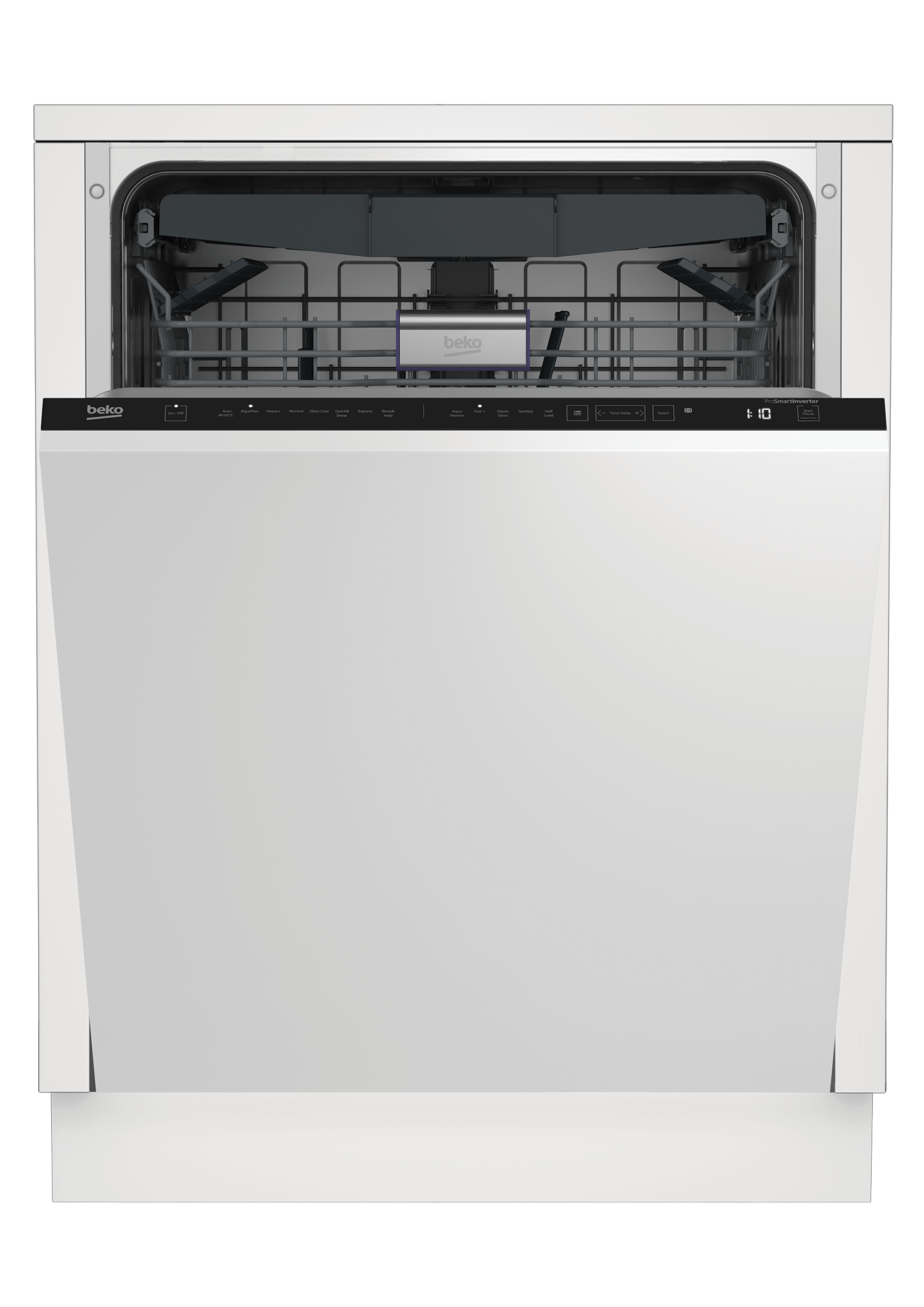 BekoTall Tub Dishwasher, 16 Place Settings, 45 Dba, Fully Integrated Panel Ready