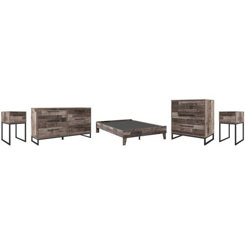 Ashley - Full Platform Bed With Dresser, Chest and 2 Nightstands