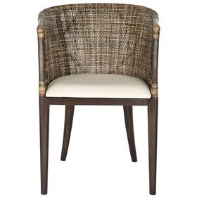 Beningo Arm Chair - Brown / Black Multi