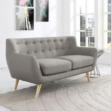 See Details - Remark Upholstered Fabric Loveseat in Light Gray