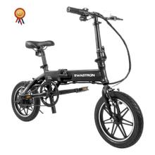 SWAGTRON EB5 Pro City & Campus Folding eBike, Pedal-To-Go - Black