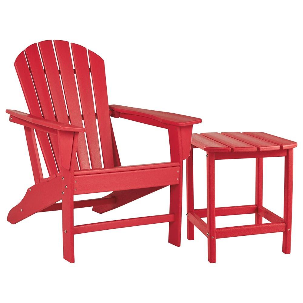 See Details - Outdoor Chair With End Table