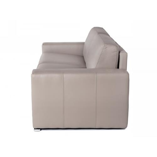 Accenti Italia Merlino - Modern Full Leather Grey Sofa Bed