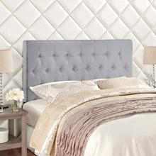 View Product - Clique King Upholstered Fabric Headboard in Sky Gray