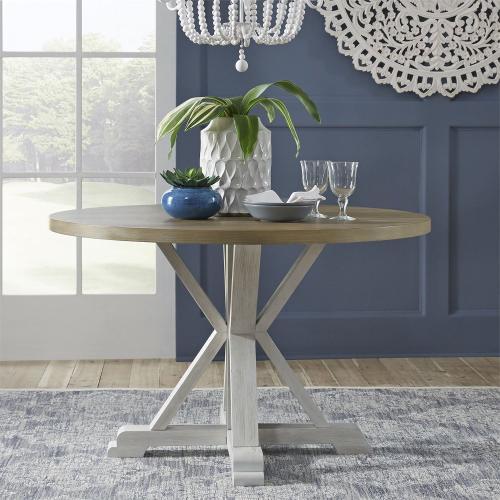 5 Piece Round Table Set- White