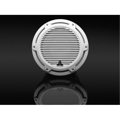 JL Audio - 10-inch (250 mm) Marine Subwoofer Driver, Gloss White Trim Ring, Gloss White Classic Grille, 4