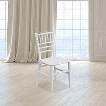 View Product - Kids White Resin Chiavari Chair