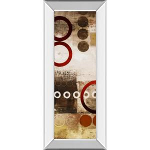 """Red Liberated Panel I"" By Micheal Marcon Mirror Framed Print Wall Art"