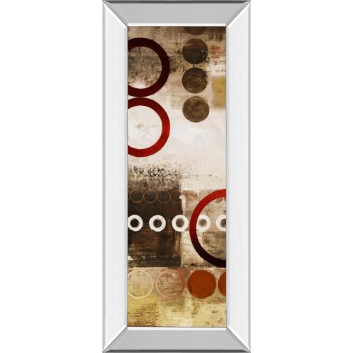 """Classy Art - """"Red Liberated Panel I"""" By Micheal Marcon Mirror Framed Print Wall Art"""