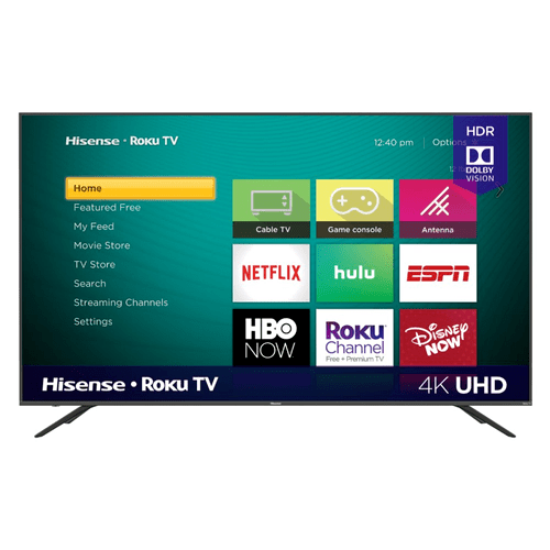 "75"" Class - R7070 Series - 4K UHD Hisense Roku TV with HDR (2019) SUPPORT"