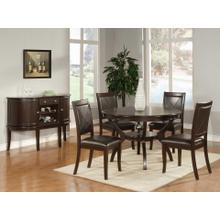 5pc Solid Wood Cherry Finish Dining Set (Table w/ 4 Chairs)