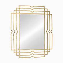 """Metal 39"""" Rectangular Mirror, Gold"""