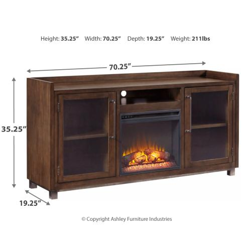 """Signature Design By Ashley - Starmore 70"""" TV Stand With Electric Fireplace"""