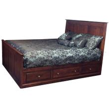 Alder Shaker Storage Bed Low 3 Drawers on each Side Queen