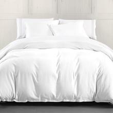 Product Image - Hera Linen Duvet Cover, 4 Colors - Super King / White