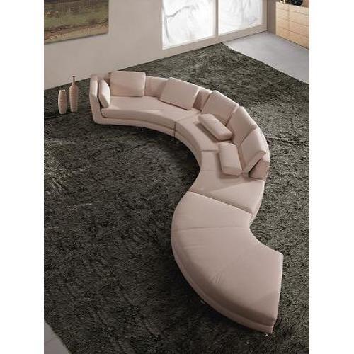 Divani Casa A94 - Contemporary Bonded Leather Sectional Sofa & Ottoman