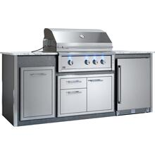 "Appliance Ready Pre-Assembled 36"" Designer Island Gray"
