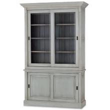 See Details - Hudson 88'' Bookcase w/ 2 Sliding Doors