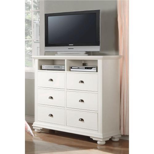 Brookpine White TV Stand White