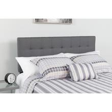 See Details - Bedford Tufted Upholstered King Size Headboard in Dark Gray Fabric