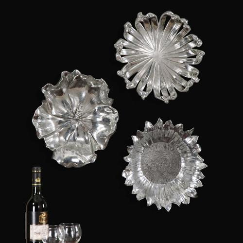 Uttermost - Silver Flowers Wall Decor, S/3