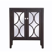 28 inch mirrored cabinet in Dark Walnut