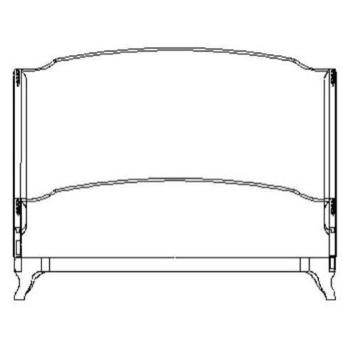 US Cali King Louis XV bed (Grey weathered/Silk chalk)