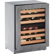 "24"" 2000 Series Wine Captain, Right Hand Door, Integrated Frame"
