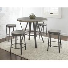 Portland 5 Piece Counter Set(Counter Table & 4 Counter Stools)