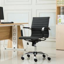 Panoton Chromel Contemporary Low Back Office Chair, Black