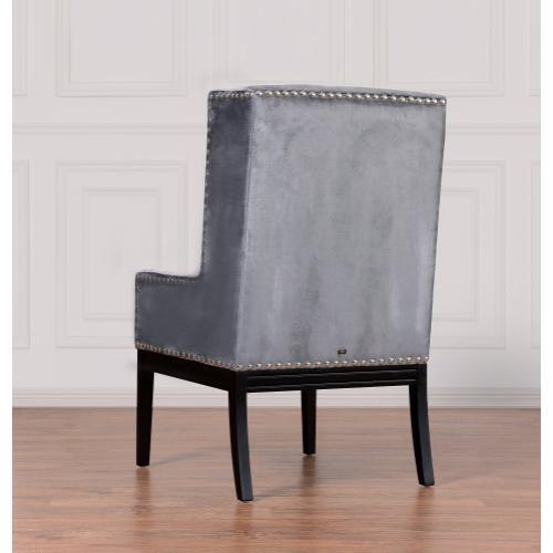 Tov Furniture - Tribeca Grey Velvet Chair