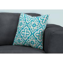 "PILLOW - 18""X 18"" / TEAL MOTIF DESIGN / 1PC"