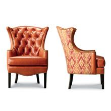 See Details - Kelly Tufted Wing Chair