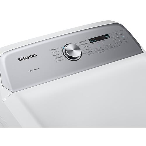 Samsung - 7.4 cu. ft. Gas Dryer with Sensor Dry in White
