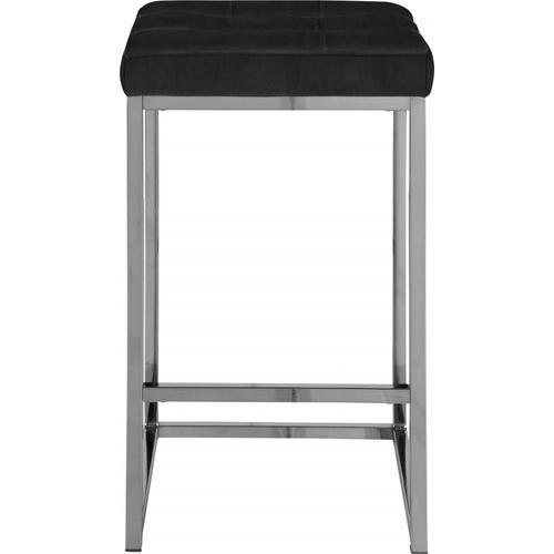 "Nicola Velvet Counter Stool - 15"" W x 15"" D x 26.5"" H"