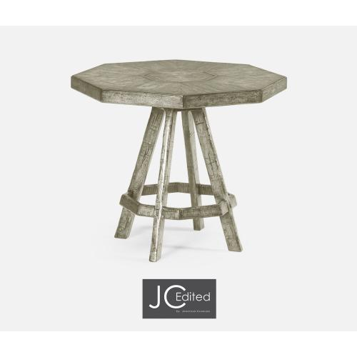 Rustic Grey Side Table with Octagonal Top