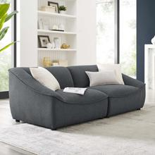Comprise 2-Piece Loveseat in Charcoal