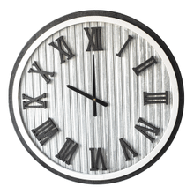 Framed Corrugated Galvanized Wall Clock