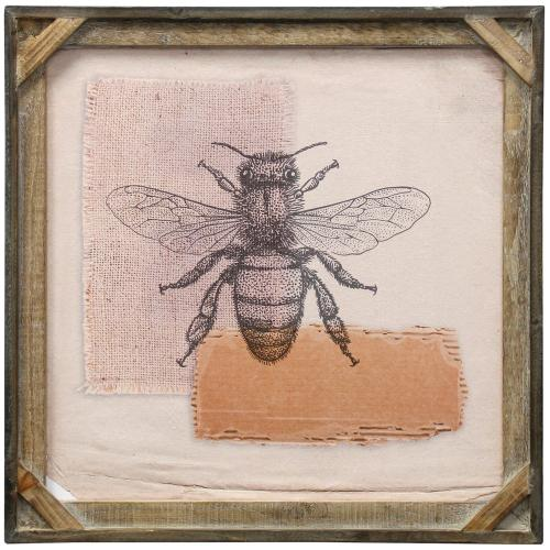 Style Craft - Bees I  Textured Framed Print  20in X 20in