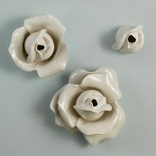 Rose Two Petal Wall Brooch-White