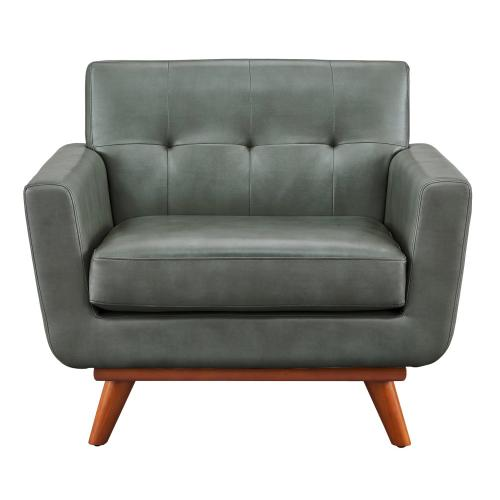 Lyon Smoke Grey Leather Chair