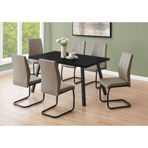 "DINING TABLE - 36""X 60"" / BLACK / BLACK METAL"