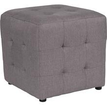See Details - Avendale Tufted Upholstered Ottoman Pouf in Light Gray Fabric