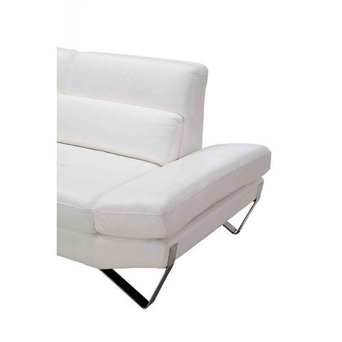 Divani Casa Apache - Modern White Full Leather Sectional Sofa