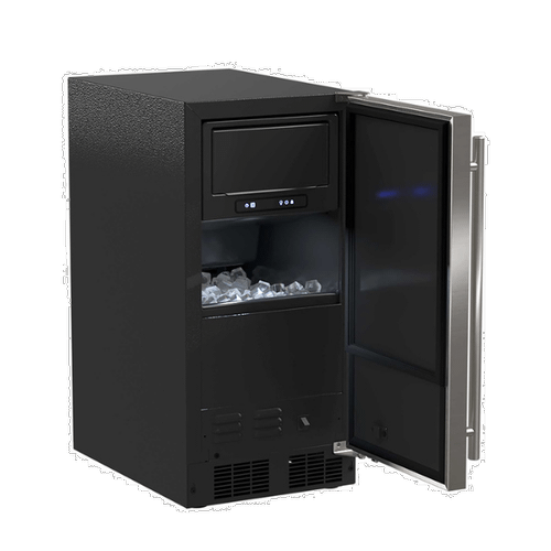 Marvel - 15-In Low Profile Built-In Clear Ice Machine With Factory-Installed Pump with Door Style - Stainless Steel