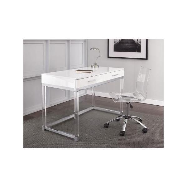 Everett 2-Piece Acrylic Desk Set (Desk & Desk Chair)