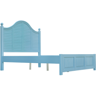 Beachfront Blue Plantation Bed, King